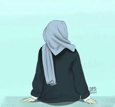 Be positive thinking Hijabi Girl, Girl Hijab, Hijab Dp, Muslim Girls, Muslim Women, Girl Cartoon, Cartoon Art, Tmblr Girl, Cover Wattpad