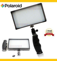 POLAROID 312 LED Light Professional VARIABLE DIMMABLE  for DSLR Cameras #POLAROID