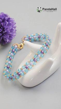 PandaHall Video: Mache ein Armband mit Perlen – Make Jewelry Bracelets – Make Jewelry Diy Bracelets To Sell, Handmade Bracelets, Handmade Jewelry, Jewelry Bracelets, Colorful Bracelets, Heart Jewelry, Body Jewelry, Beaded Bracelets Tutorial, Beaded Bracelet Patterns