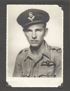 Jim Ashworth of British Columbia flew a Hurricane II-D over Burma, with RAF 20 Squadron. This photo was taken in a Bombay, India studio and sent home to his parents.