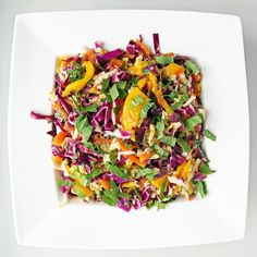 Spicy Mango, Papaya, and Cabbage Slaw: Spice things up with a tropical fruit and cabbage slaw that's simultaneously sweet, salty, juicy, sour, and spicy.