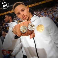 of the Golden State Warriors before the Houston Rockets during their NBA game at ORACLE Arena on October 17 2017 in. Nba Wallpapers Stephen Curry, Steph Curry Wallpapers, Stephen Curry Family, Nba Stephen Curry, Golden State Warriors Wallpaper, Golden Warriors, Nba Rings, Wardell Stephen Curry, Golden State Basketball