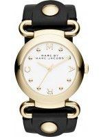 Orologio Donna Marc By Marc Jacobs Molly MBM1304 Cinturino di cuoio nero