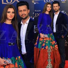 Recent click of Atif Aslam with his wife at #lsa17 ! - - #atifaslam #followus ✨