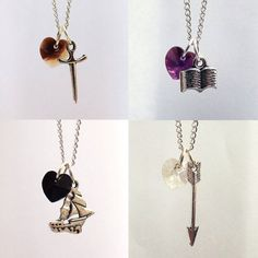 Once Upon A Time Character Necklaces: Charming, Hook, Henry, Snow on Etsy, $16.29