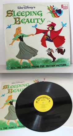 """""""Sleeping Beauty"""" Disney record (1960's)~Images by Peppermintandcocoa"""