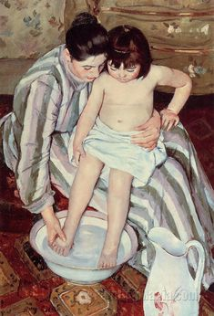 the bath, mary cassatt
