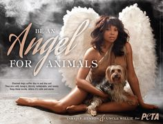 Taraji P. Henson & Uncle Willie 4 BE AN ANGEL FOR ANIMALS/PETA.<3