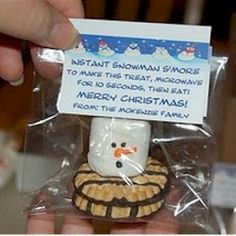 "Instant Smores Snowman - Too CUTE! ""Jesus loves you SNOW Much!""-would be cute for the Sunday School kids!"