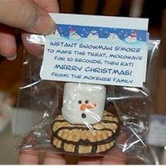 Smores Snowman Craft