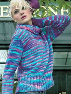 Elle Knitting Patterns Free : 1000+ images about Knit womens pullovers (colorful) on Pinterest Drops...