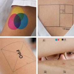 Cool Print Related Tattoo Designs.