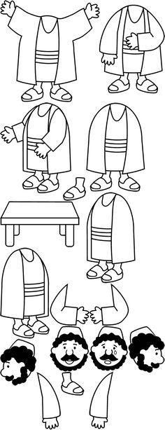 Mc 5,22–24, 35–43 piezas despiezadas BW
