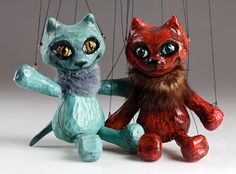 This colourful Circus Cat Czech marionette is a really cute creature! Perfect animal puppet that will become your lifetime friend and amazing decoration as well. Cute Creatures, Puppets, Owl, Bird, Cats, Animals, Fictional Characters, Amazing, Gatos