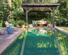 Figowce, winorośl i basen - prawdziwa oaza.