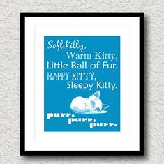 Soft Kitty Lyrics Big Bang Theory Sheldon Art Print by tspPrints, $10.00 cat room