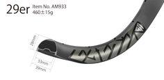 AM933 asymmetric rim profile carbon 29 inch carbon rims mtb