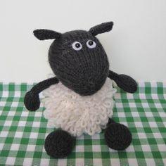 Loopy Sheep toy animal knitting pattern pdf