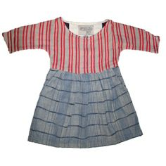 Mini Pleated Dress | Peppermint Indigo Twist  100% cotton. Made in India  ...