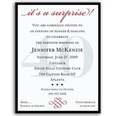 Invitation Formats Adult Surprise Birthday Invites Surprise Party Invitation .