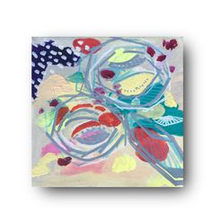 Mini Abstract Floral Acrylic Painting Bohemian by NinaLeonorArt