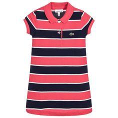 Lacoste - Girls Striped Cotton Piqué Dress | Childrensalon