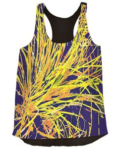 Vividly - Silly String Top, $78.00 (http://vividly.co/silly-string-top/) #top #blouse #fashion #women #art #abstract #sillystring #blues #yellows #fireworks #vividly #clothes #clothing