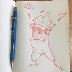 Huzzah!! #eejits #cartoon #creatures #characterdesign #characterart #pencilart #sketch #sketchbook #caithness #scotland #scottishartist #scottishart