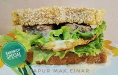 Menu katering keto hari ini... Sandwich special  Terima kasih yg sudah langganan di dapur mak Einar :) Ada yg mau ikut katering juga? Bisa harian mingguan atau bulanan. Harga per porsi 50rb saja sudah termasuk menu penutup loh... Hanya untuk area Denpasar-Badung  #kateringketo #kateringketobali #ketobali #lchf #ketofastosis #kfstyle