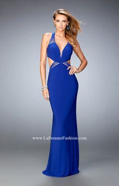 Bold jersey gown with