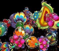 Polymer Beads, Clay Beads, Lampwork Beads, Handmade Beads, Bead Crafts, How To Make Beads, Bead Art, Beaded Jewelry, Jewellery
