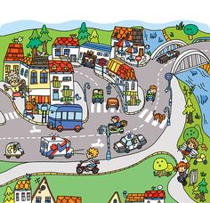 A fun board book focused on various types of roads, guides the children through the woods, towns and cities, shows different kinds of vehicles, cars and buildings. Writing Prompts For Kids, Picture Writing Prompts, English Grammar Worksheets, English Vocabulary Words, Sequencing Cards, Spanish Teaching Resources, Picture Composition, Teacher Books, Hidden Pictures