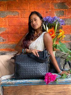 Black woven Boho Vintage Textiles, Chanel Boy Bag, Textile Art, Shoulder Bag, Boho, Collection, Black, Fashion, Moda