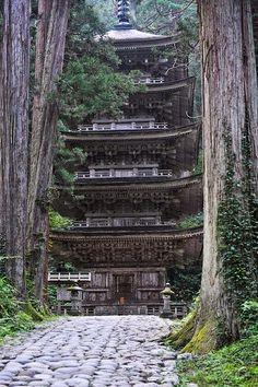 Five Story Pagoda, Mount Haguro, Yamagata, Japan