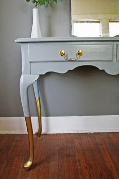 Easy to copy I bet! Gold Dipped Versatile French Provincial Piece by HayleonVintage, $300.00