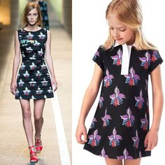 Shop Fendi Girls Orchid Mini Me Dress Inspired by Fendi Womens Spring Summer 2015 Collection. Designed by Karl Lagerfeld. Ships Worldwide.