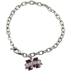 Mississippi State Bulldogs Logo Silvertone Charm Bracelet  @Fanatics ®  #FanaticsWishList
