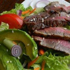 Grilled Steak Salad with Asian Dressing Allrecipes.com