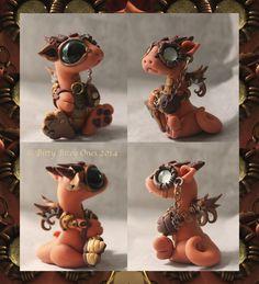 Little+orange+steampunk+dragon+by+BittyBiteyOnes.deviantart.com+on+@deviantART