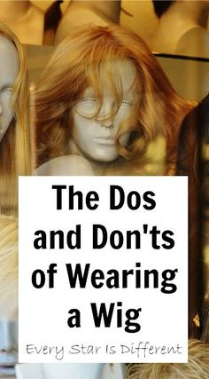 The Dos and Donts of Wearing a Wig - Thining Hair - Hair Treatment Diy Wig, Cosplay Wigs, Cosplay Hair, Cosplay Dress, Cosplay Makeup, Cosplay Outfits, Cosplay Costumes, How To Wear A Wig, Hair