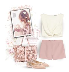 """""""Pink Roses"""" by youaresofashion ❤ liked on Polyvore featuring Valentino and Rachel Comey"""