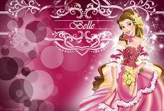 belle disney | Disney Princess Pink Belle Wallpaper