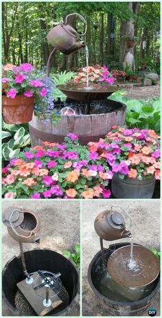 DIY Tea Pot Fountain Instruction   DIY Fountain Landscaping Ideas U0026 Projects