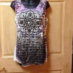 Carole little sleeveless blouse Large sleeveless Ruffles blouse Carole Little Tops Blouses