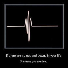 If there are no ups and downs...
