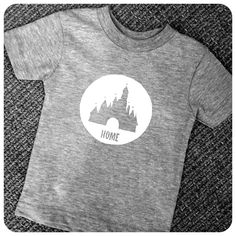 """Disneyland Disney World T-Shirt - Disney Castle Circle with the words """"Home"""" by 43nineteen on Etsy"""