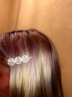 BLACK SPARKLY FACETTED STONE 6CM HAIR GRIPS CLIPS party school UK