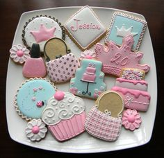 Girly girl birthday cookie set http://www.facebook.com/photo.php?fbid=10150574343911793=a.10150352000221793.341227.292593026792=3