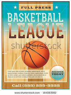 27e2cd3d4c9b A basketball league flyer or poster perfect for basketball announcements
