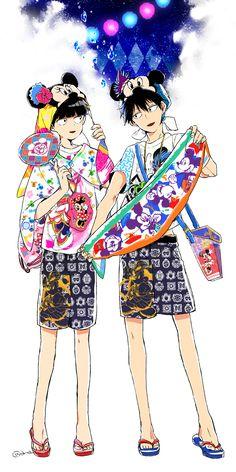 Kageyama Shigeo and Kageyama Ritsu #summerclothes